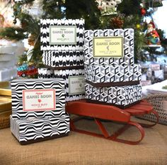 The gift that keeps on giving--games for the entire household. Holiday decorated gifts that don't even need wrapping! Get one or a variety of the games from @kelloggfurn