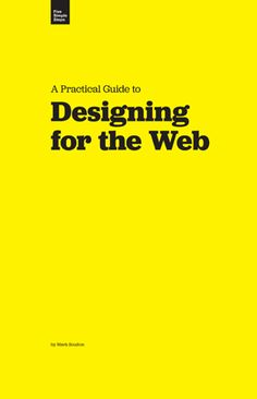 Free online book: Designing for the Web