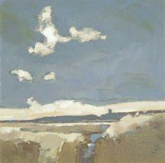 landscape by Blakeney Church by John Newland