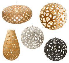 :: david trubridge organic pendants