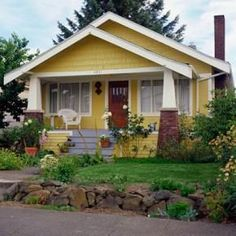 Love a Yellow Bungalow Style Home