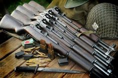 I love this pic of these Garands. for cool amendment and military rifle/pistol decals. M1 Garand, Battle Rifle, Airsoft, Fire Powers, Military Weapons, Ww2 Weapons, Military Surplus, Assault Rifle, Cool Guns
