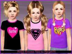 Pinkie Princess Tops by Margeh75 at BTB Sims - Sims 3 Finds
