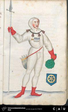 Nürnberger Schembart-Buch Erscheinungsjahr: 16XX  Cod. ms. KB 395  Folio 38