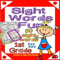 Sight Words Fun in First Grade Set 1 (50 words - B and c