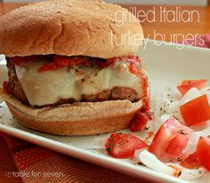 Table for 7: Grilled Italian Turkey Burgers #SundaySupper