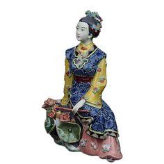 Estatua antigua Maravilla Figura colección de Figurillas de Porcelana Antigua Escultura Estatuas para La Decoración Tradicional China Artes(China (Mainland))