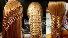 Peinados  faciles bonitos para cabello/Peinados para niña 2017/trenzas f...
