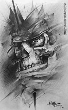 King Tattoos, Chicano Tattoos, Body Art Tattoos, Sleeve Tattoos, Evil Skull Tattoo, Skeleton Tattoos, Sugar Skull Tattoos, Black Cherry Tattoo, Black And Grey Tattoos