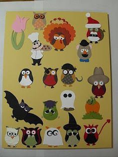 I love the Mr. Potato Head!  Possibilities for my next owl class...