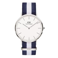 The Classic Glasgow (40mm) in Silver by Daniel Wellington