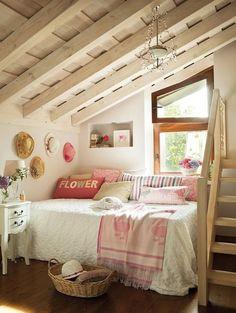 Lovely, girly attic bedroom