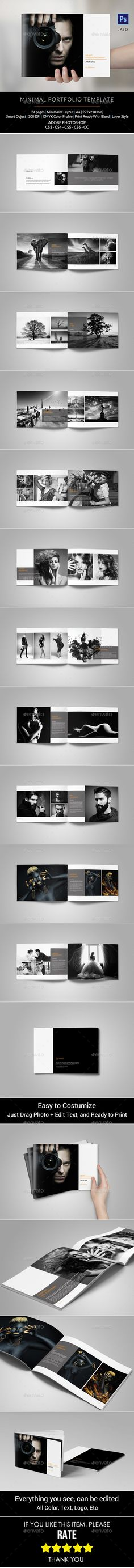 Portfolio Photographer Brochure Template #design Download: http://graphicriver.net/item/portfolio-photographer/12696125?ref=ksioks