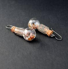 Steampunk Mad Scientist Earrings  Viking by MadScientistsDesigns, $30.00