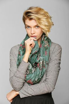 Tapestry Crosshatch Eternity Scarf #urbanoutfitters
