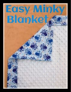 Of Mice and Moms: DIY Easy Minky Blanket Tutorial in Only 30 Minutes baby blanket baby clothes baby projects baby stuff baby toys Self Binding Baby Blanket, Baby Blanket Tutorial, Easy Baby Blanket, Minky Baby Blanket, Quilt Baby, Rag Quilt, Diy Baby Gifts, Baby Crafts, Flannel Baby Blankets