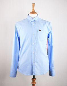 Marshall Artist Yarn Dyed Oxford Shirt - Sky Blue