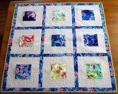 Modern Floral Baby Quilt for a Girl in Amy Butler by MyBitOfWonder