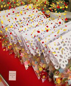 Bolsitas de confeti para bodas