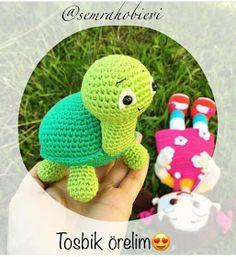 begoşun hobi sepetig: Minik tarifler.. Crochet Crafts, Crochet Dolls, Holidays And Events, Turtle, Diy And Crafts, Dinosaur Stuffed Animal, Crochet Patterns, Cross Stitch, Embroidery