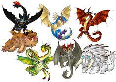 """Résultat de recherche d'images pour """"dragones de berk dragones"""""""
