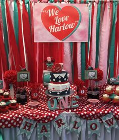 Retro I Love Lucy birthday party! See more party ideas at CatchMyParty.com!