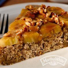 Caramelized Banana Nut Upside-Down Cake from Martha White®
