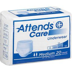 Incontinence Aids: Attends Care Heavy Protective Underwear Pull Up Adult Medium Apv20 (Case Of 80) BUY IT NOW ONLY: $38.65