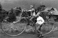 Vintage Weird Inventions – People with Their Funny Bicycles in the Past ~ vintage everyday