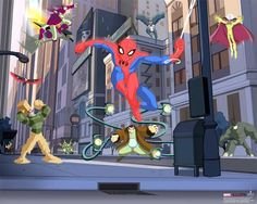 Spectacular Spiderman  mural for a child's bedroom