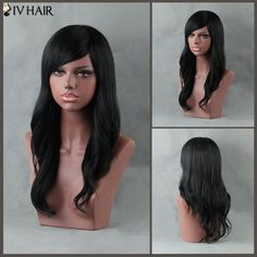 78.26$  Buy now - http://diql0.justgood.pw/go.php?t=199749901 - Long Slightly Curled Side Bang Siv Human Hair Wig 78.26$