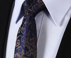 "TF2014B7 Navy Blue Gray Paisley skinny floral 2.75"" 100%Silk Woven Slim Skinny Narrow Men Tie Necktie Handkerchief Pocket Square Suit Set"