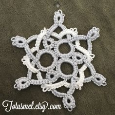 Needle Tatting and other Nonsense: Threes Snowflake Pattern FREE