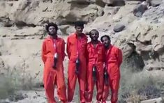 Slaughter: ISIS has released a series of execution videos in Yemen where four groups of rebels are slaughtered in different sickening scenarios, including having mortar shells tied around their necks