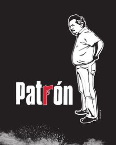 """Discover Pablo Escobar """"PatrÓn"""" Limited T-Shirt from Tee's Design House, a custom product made just for you by Teespring. - Custom illustration of Pablo Escobar from the. Pablo Emilio Escobar, Don Pablo Escobar, Dope Cartoon Art, Dope Cartoons, Narcos Poster, Narcos Wallpaper, Colombian Drug Lord, Mexico Wallpaper, Cowboy Bebop"""
