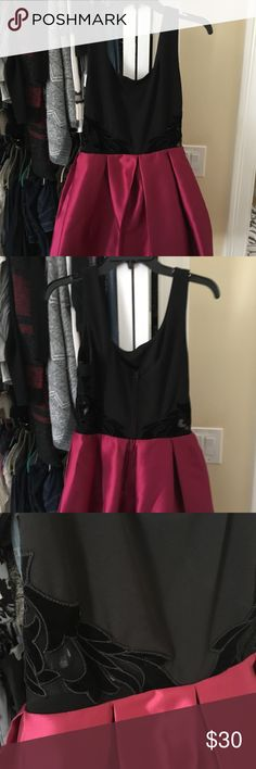 Party Dress Wine and black party dress Great for school dance Above the knee Dresses Mini