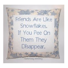 Funny Cross Stitch Pillow,
