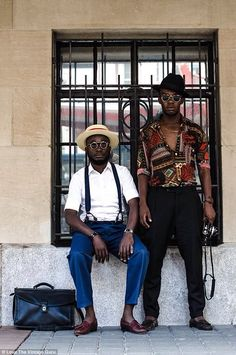 Street style the Namibian way: Hipster tailor Loux inspires 'African fashionistas' | Daily Mail Online