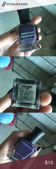 Deborah Lipman Purple Nail Polish NEW Deborah Lipman Purple Nail Polish NEW - Never Used - Dark Purple Color, Called : Fashionably Late Sephora Makeup