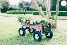 Flower Girl/Ring Bearer Wagon | Catherine Ann Photography