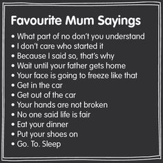 Mother's Sayings