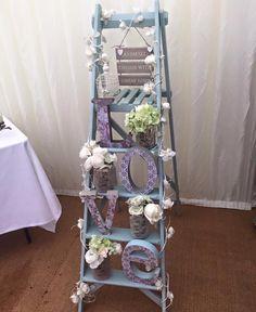 Wedding Ladder Of Love Vintage Green Letters Rustic Weddings Engagement Statement Scene Setter