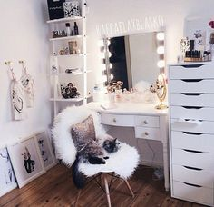 Most popular tags for this image include: room, bedroom, makeup, white and home
