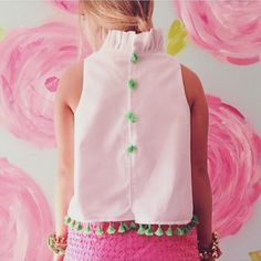 The official launch date for our Spring collection is March 11th!  We have so many new designs that we cannot wait to share! One of our favorite spring/summer designs that we always bring back is the Tabitha Tassel Top! The tassels + pom poms will be available in a variety of different colors: Green, pink, coral, and a few other surprise colors too that we will share in a few weeks! Many sneak-peeks to come! #elizabethwilsondesigns #tassels #tabithatasseltop