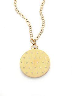 Devon Woodhill - 18K Brushed Yellow Gold & Diamond Jane Locket