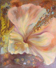 """Hibiskus""-50x60 olej na płótnie Painting, Art, Hibiscus, Art Background, Painting Art, Kunst, Paintings, Performing Arts, Painted Canvas"