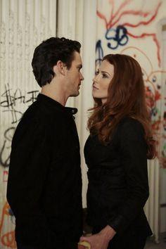Still of Matt Bomer and Bridget Regan in White Collar (2009)