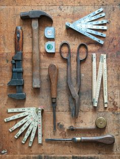 collection of vintage tools by BKLYN Dry Goods Antique Tools, Old Tools, Vintage Tools, Art Antique, Power Hand Tools, Displaying Collections, Tool Box, Blacksmithing, Shadow Box
