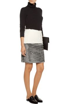 Shop on-sale Goen J Striped faux fur skirt. Browse other discount designer Skirts & more on The Most Fashionable Fashion Outlet, THE OUTNET.COM