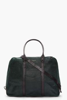RAG & BONE Forest green leather Keeley Duffle